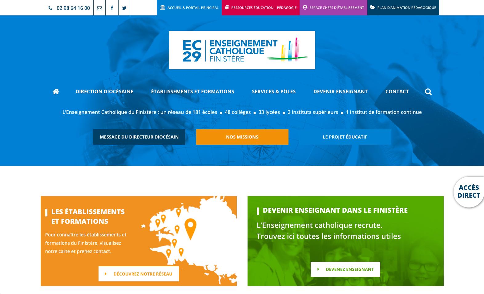 Direction Départementale de l'Enseignement Catholique du Finistère